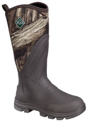 The Original Muck Boot Company Woody Grit All-Terrain Hunting Boots for Men - Mossy Oak Break-Up Infinity -