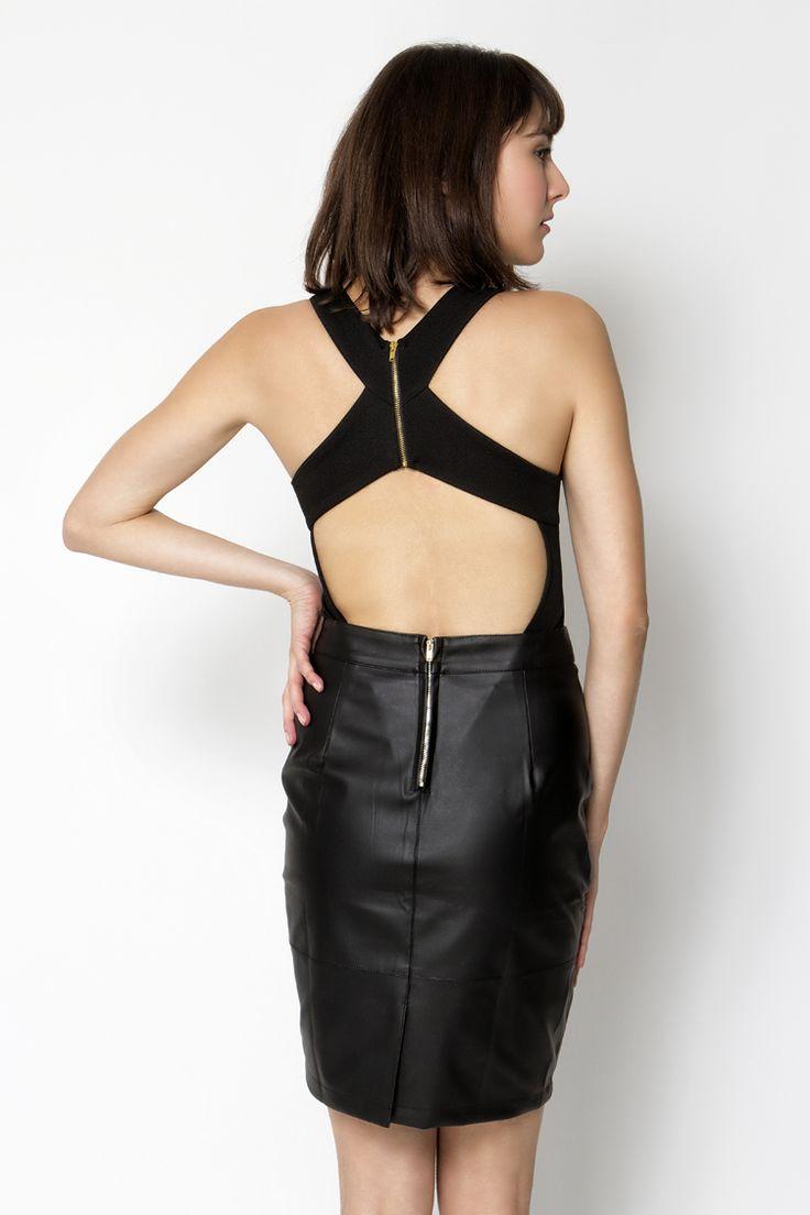 Mesh Panel Backless Κορμάκι - ΡΟΥΧΑ -> Μπλούζες   Made of Grace