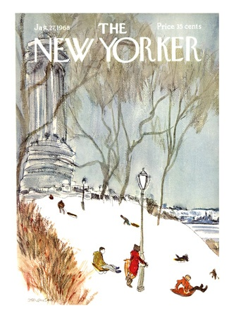 The New Yorker Cover - January 27, 1968 Giclee Print by James Stevenson