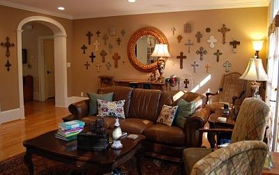 Cross Wall Decor Ideas Love All The Crosses On Simple Home