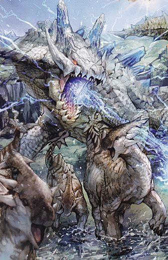 Ivory Lagiacrus artwork.