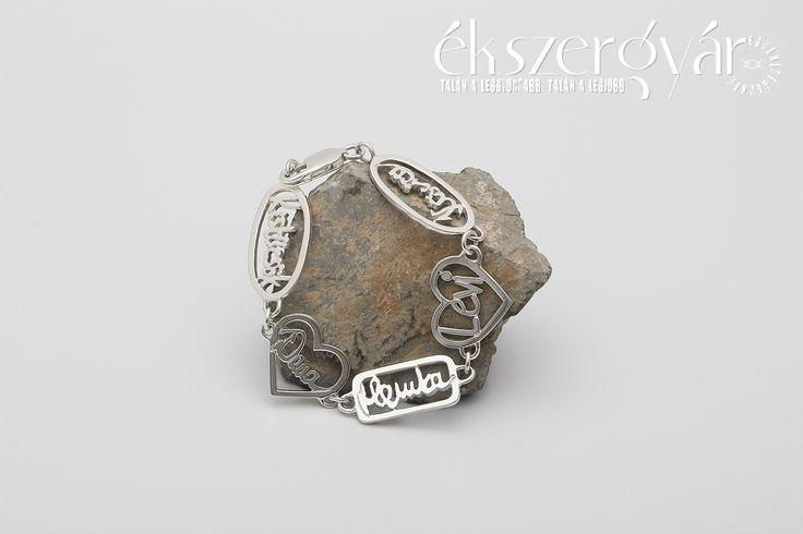 Signature project: családi kör - aláírás ezüst karkötő #signature #signaturejewelry