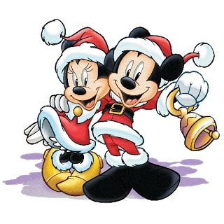 Mickey And Minnie - Christmas Clipart Images