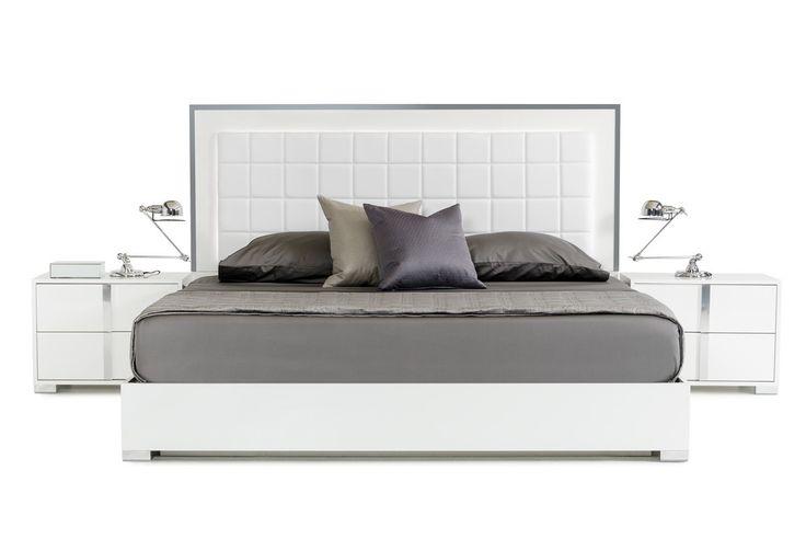 VIG Modrest San Marino Modern White Cal. King Size Bed VGACSANMARINO-BED-WHT