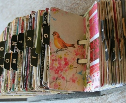 GREAT IDEA -- use old cards as replacement cards for your Rolodex!