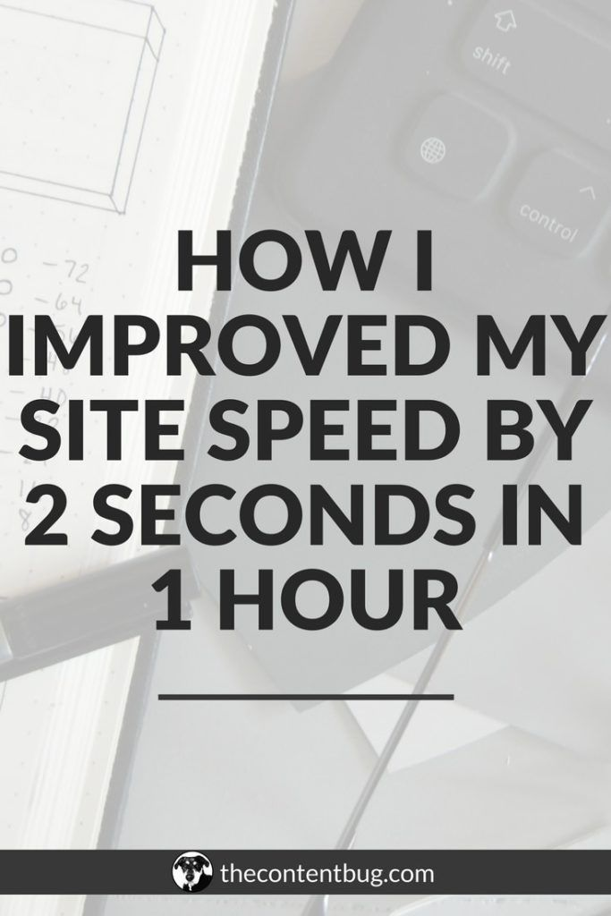 Did you know that your site speed can actually hurt your website traffic, holding you back from growing your blog?! Yeah, site speed is actually one of the top SEO ranking factors that you need to worry about! And in just 1 hour, I was able to reduce the speed of my site by 2 seconds! Learn how you can make your blog load faster in this blog post. #SEO #growyourblog #bloggingtips