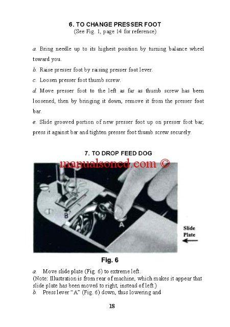 Necchi Bu Sewing Machine Manual Instruction Manual
