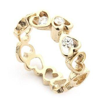 Open your heart ring - 14 karat med brillanter.  http://www.fangels.dk/maerker/per-borup.html