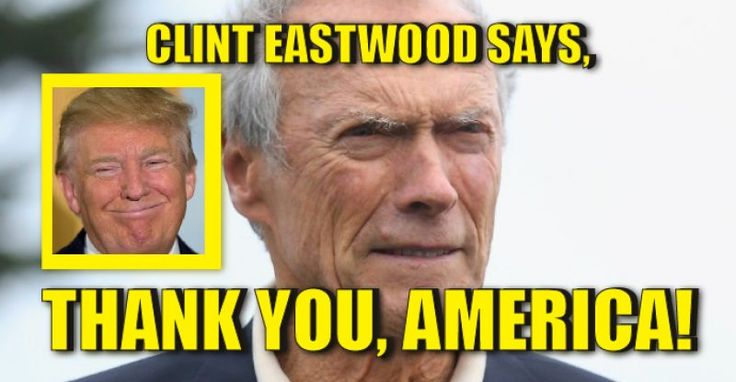 Clint Eastwood Thanks America 11/10/16