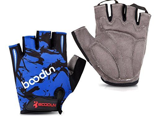 Shubb Cycling Gloves  Breathable Half Finger Bicycle Riding Bike Gloves for Boys Girls Blue M * See this great product.