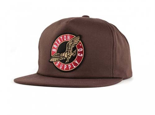 Gaff Snap Back Hat by Brixton- Brown