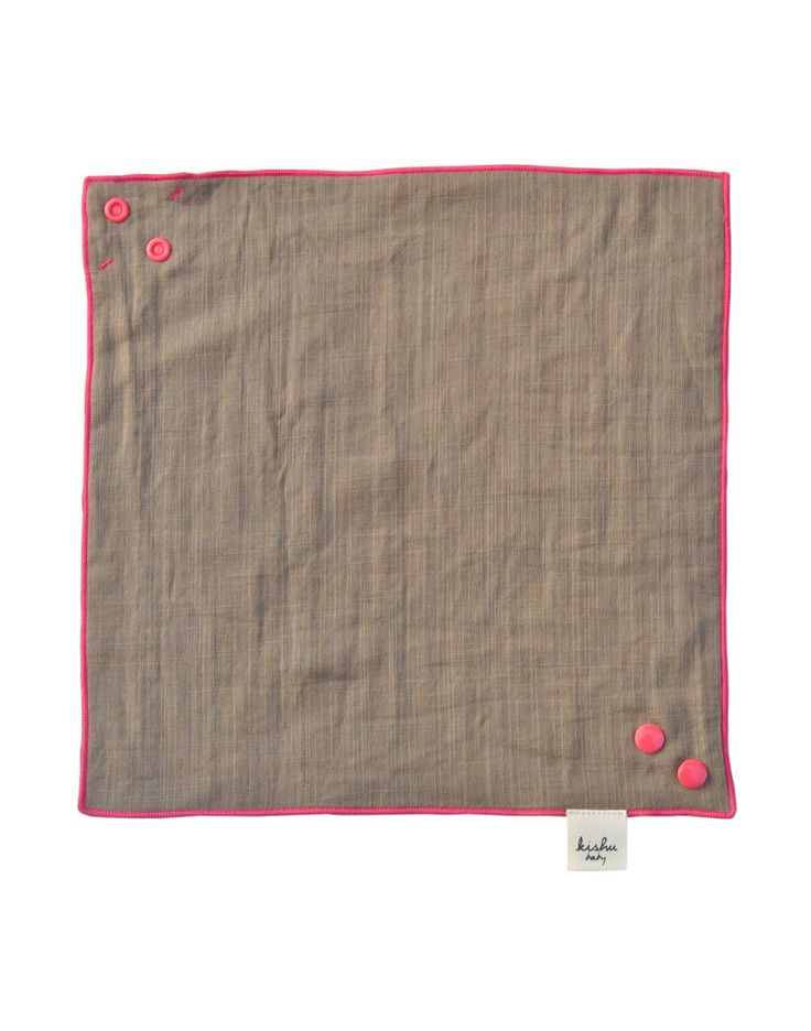 solid bandana bib |khaki + pink | reversible girl bandana bib | also use as wipe cloth