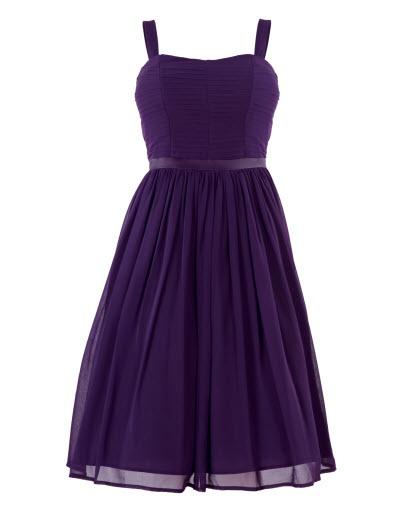 Pleated Silk Bandeau Dress