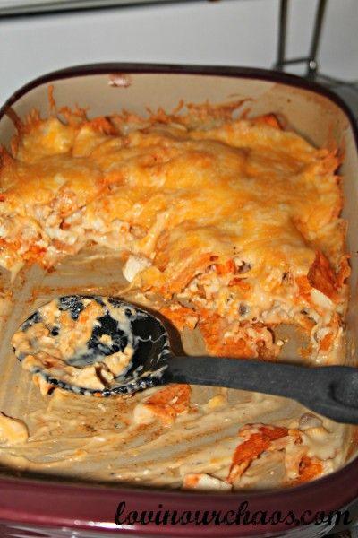 Chicken dorito casserole yum