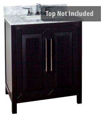 Cade Contempo 30'' vanity with black finish and clean, leading-edge design VAN101-30