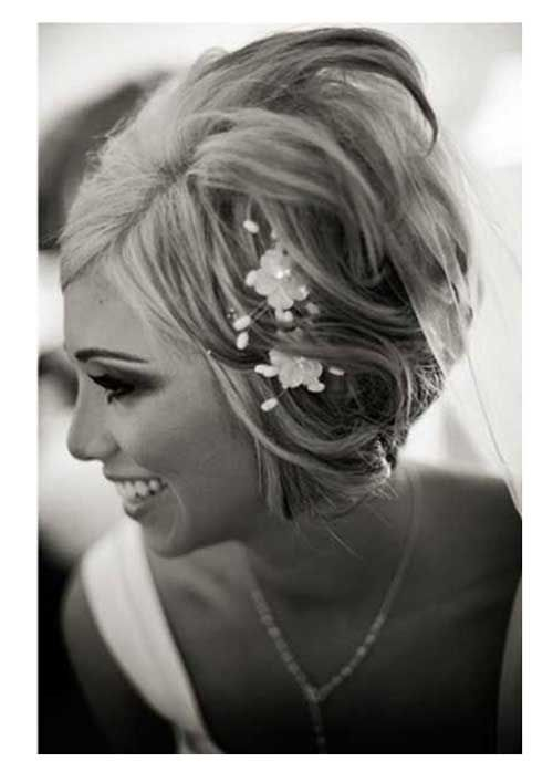 Princess Look Wedding Hairstyles for Short Hair