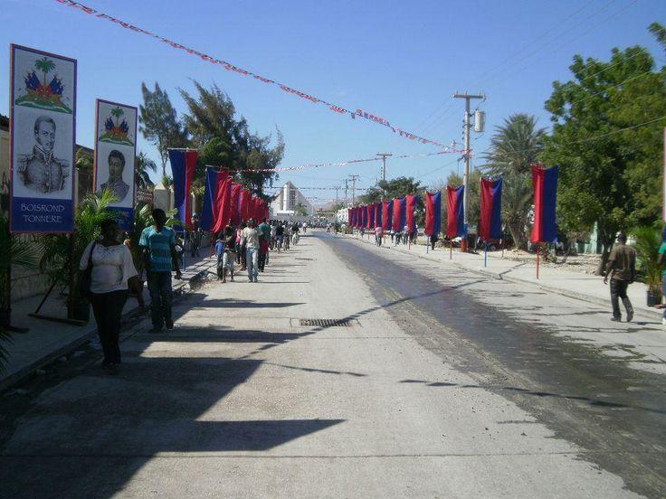 Celebration of Independence day (January 1st, 2012) in Gonaives, Haiti.