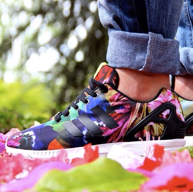 Adidas Zx Flux Watercolor On Feet