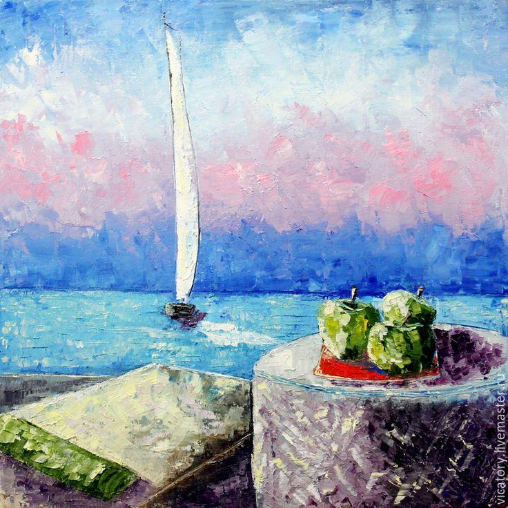 Sea, boat and green apples. Море by Victoria Sokolova, 2015, парусник и зеленые яблоки, Виктория Соколова, 2015 г.
