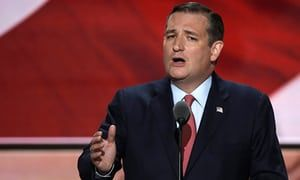 Former Republican U.S. presidential candidate Ted Cruz speaks during the third night of the Republican National Convention in Cleveland. Cruz called the RSS satellite temperature data 'the best data we have.'