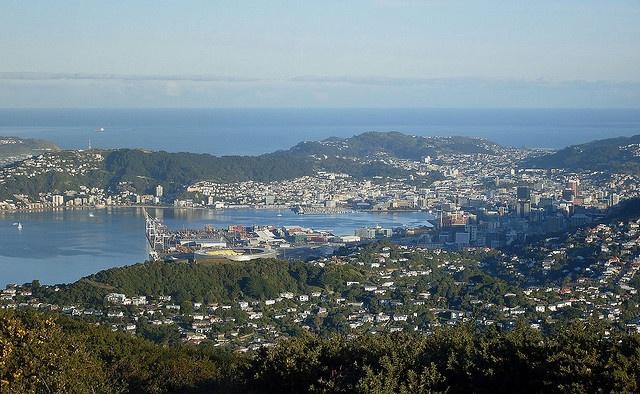 Wellington city from Mt Kaukau by philip_wgtn_nz, via Flickr