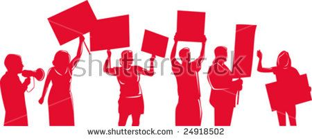People protesting development  #protesters #silhouette #illustration
