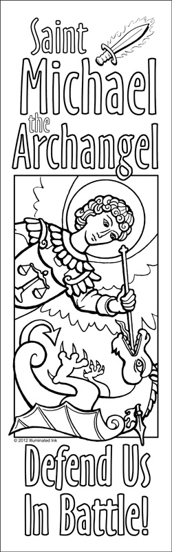 HOLY poster, Saintboy! 8' by 2.5' - Catholic Coloring Poster - St. Michael  looks like a great group project...