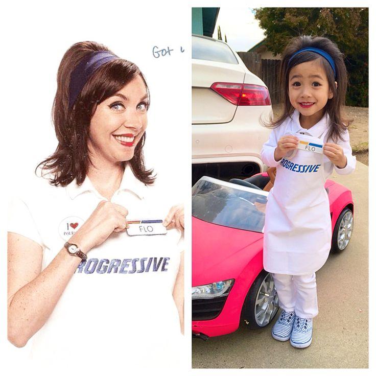 Toddler Flo Progressive Costume DIY Halloween