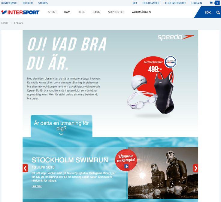 Alla kanaler ledde rakt in till kampanjsidan hos Intersport eller närmaste Intersportbutik. Där kunde man lära sig mer om simning och få finfina erbjudanden på att från startpaket till specialutrustning.