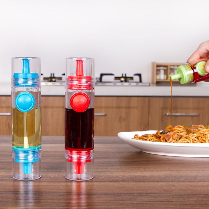 2 in 1 Cooking Olive Oil Sprayer Dispenser Spice Container Cooking BBQ Seasoning Bottle Kitchen Pastry Tools 3 Colors