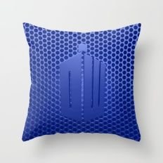 Tardis Logo Throw Pillow
