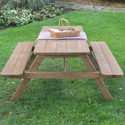 Loon Peak Oso Kid's Picnic Table Finish: Oak Stain
