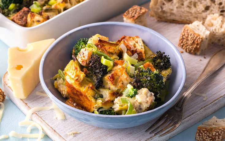 Active time: 15 minutes            Total time: 1 hour 15 minutes Packed with broccoli, whole-grain bread and eggs, this easy breakfast casserole keeps you fueled for whatever the weekend has in store. Leftovers reheat well in the microwave, so they make a great quick breakfast during the week, too.   Ivy is a cookbook author ...