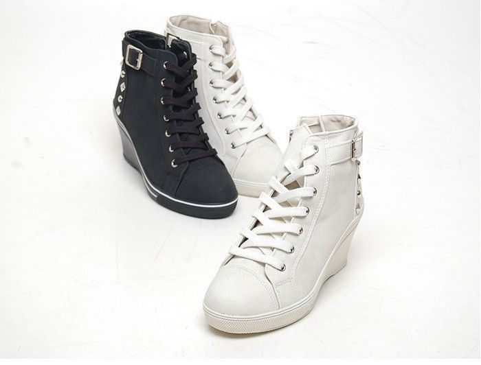 details about wedge high heel high top sneakers