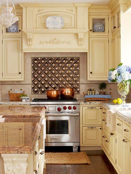 Rustic kitchen backsplash tiles ideas bronze backsplash tiles accent