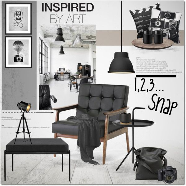 Director's Home by anna-anica on Polyvore featuring interior, interiors, interior design, home, home decor, interior decorating, Baxton Studio, Artek, Muuto and Stelton
