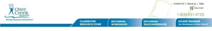 Otter Creek Institute Educator Workshops & Supplemental Products | oci-sems.com