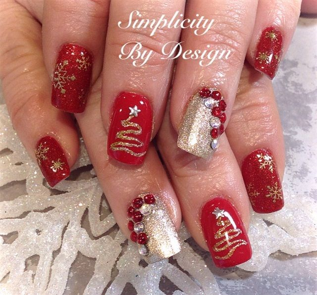 Christmas Nail Art Designs Gallery