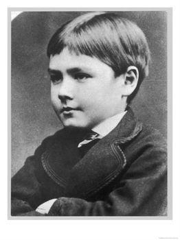 Foto di Rudyard Kipling da bambino. Immagine reperita su google.