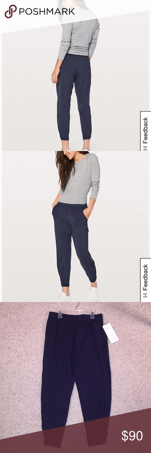 Twisted and Tucked Pant (navy) Never worn!! I love these joggers but I just don't have enough to match with navy!! They are super soft and comfortable but I just won't wear them as much as I hoped to. lululemon athletica Pants Track Pants & Joggers