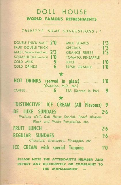 The Doll House Drive-in Restaurant Menu P2   Flickr - Photo Sharing!
