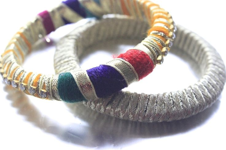 Handmade bangles using traditional gota materials to make your summer wardrobe that much more fun!Please note that this is a handmade product and thus there may be some irregularities in it ,all adding to the charm of the product!Care: As this item is handmade using delicate materials, special care must be taken when using. Please keep away from water and heat.About: Gota jewellery is very commonly worn by brides and friends in Pakistan for weddings, typically on the