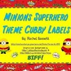 This set of Minion Superhero theme cubby labels would go perfectly with my other Minions Superhero themed items!  These come in a Microsoft PowerPo...
