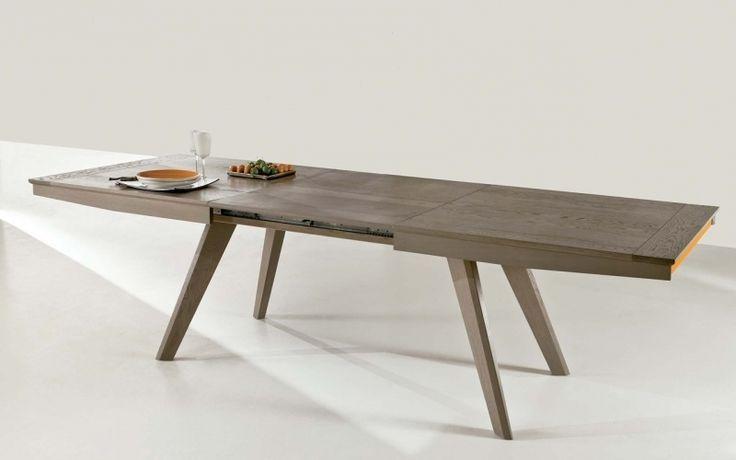 table rectangulaire de salle à manger avec allonge en chêne en ce qui concerne Table Bois Metal Avec Rallonge dans Nantes