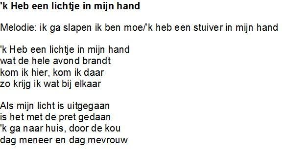 k heb een liedje in mijn hand