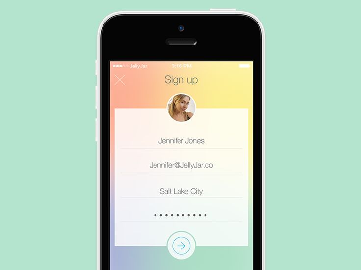 Dribbble - iPhone - Sign up by Eric Hoffman