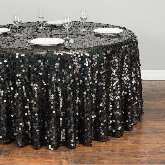 120 In Round Payette Sequin Tablecloth In 2020 Sequin
