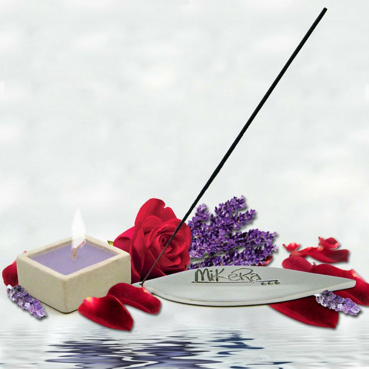 Lavender Rose scented Incense, Steel Holder and Candle Gift Pack from MiKeRa