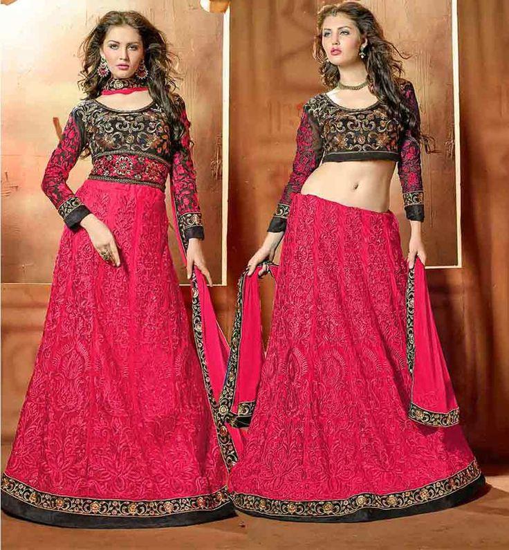 STYLISH SALWAR SUIT OR LENGHA CHOLI TRENDY FUSION DRESS WITH DUPATTA