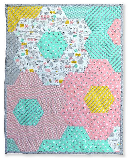 Pattern for Monsterz-Sized Hexagon Quilt by Michelle Engel Bencsko | Cloud9 Fabrics, via Flickr